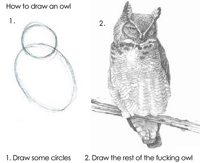imageshow-to-draw-an-owl