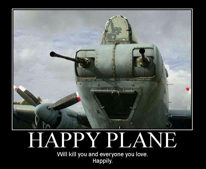 blij vliegtuig