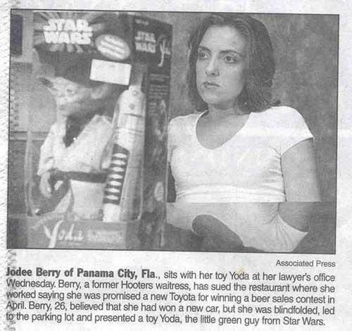 toyota toy yoda funny newspaper clip