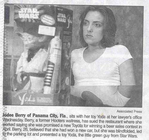 toyota toy yoda funny newspaper clip