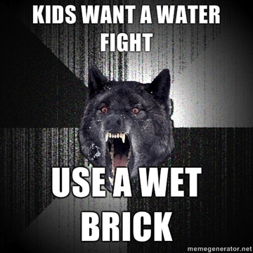 insanity wolf water fight
