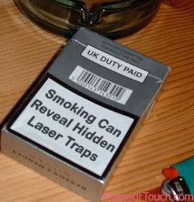 smoking-laser-traps